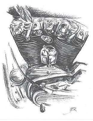 Drawing - Ironhead by Jacki Randall