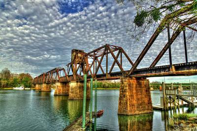 Photograph - Ironman 3 Sixth Street Trestle Bridge  Augusta Georgia Art by Reid Callaway