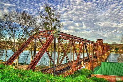 Photograph - Ironman 4 Sixth Street Trestle Bridge  Augusta Georgia Art by Reid Callaway