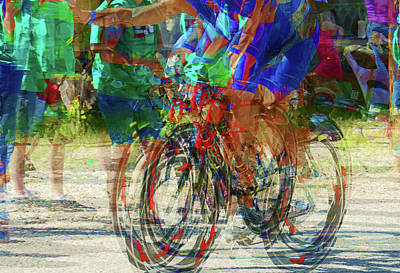 Ironman Bicyclist 2109 Art Print by David Mosby