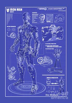 Photograph - Ironman Patent by Doc Braham