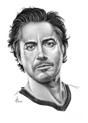Robert Downey Jr Drawing Drawing - Robert Downey Jr by Murphy Elliott