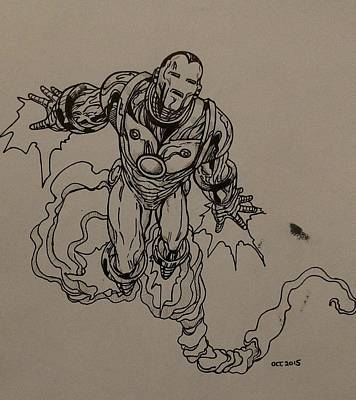 Ironman Drawing - Ironman  by Tom Stearns