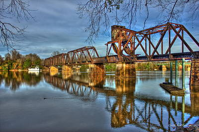 6th Street Photograph - Ironman Truss Augusta Ga 6th Street Trestle Bridge by Reid Callaway