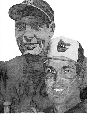 Baltimore Orioles Drawing - Ironmen by Mike Pedone