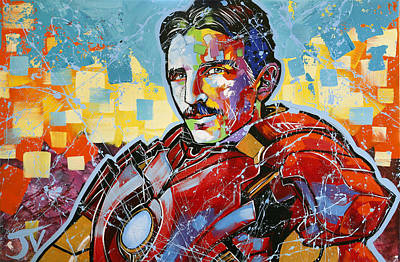 Painting - Irontesla by Jay V Art