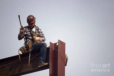 Wv Photograph - Ironworker 6 by Howard Tenke