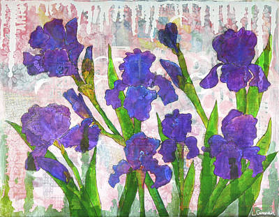 Painting - Irresistible Irises by Lisa Crisman