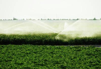 Soil Digital Art - Irrigation Action by Terry Davis