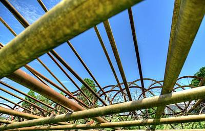 Photograph - Irrigation Pipes 2 by Jerry Sodorff