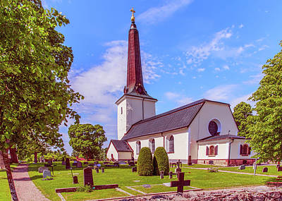 Photograph - Irsta Church.  by Leif Sohlman