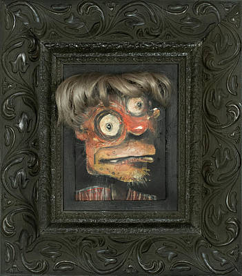 Mixed Media - Irwin In Fancy Frame by Tim Nyberg