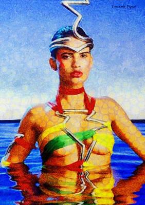 Pool Digital Art - Is Fantastic - Da by Leonardo Digenio
