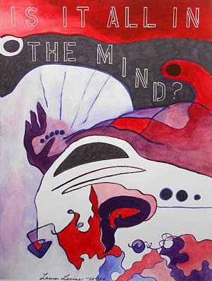 Surrealist Painting - Is It All In The Mind? by Laura Joan Levine