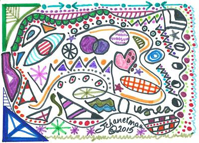 Uplifting Drawing - Is It Any Wonder? by Susan Schanerman