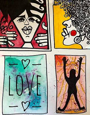 Mixed Media - Is It Love by Renee Marie Martinez