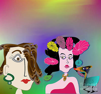 Digital Art - Is It Ok If Sammy Comes Along by Iris Gelbart