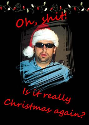 Photograph - Is It Really Christmas Again Red Font by Joseph C Hinson Photography