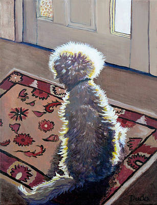 Painting - Is That Dadda Coming Home? by Susan Duda
