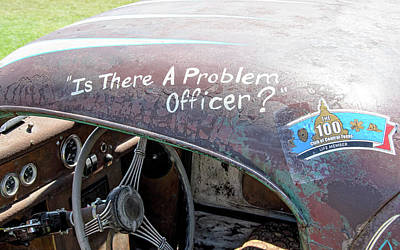Photograph - Is There A Problem Officer? by David Lawson