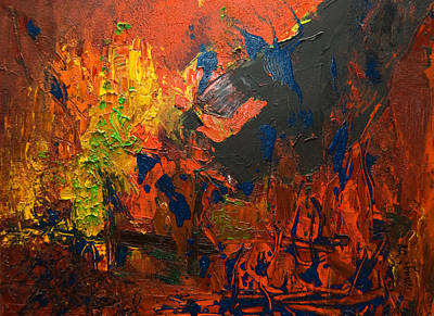 Painting - Is There A Way Out 2008 by Gabi Dziok-Grubb