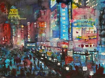 Is There Anything Going On Tonight In Downtown Art Print by Dreja Novak