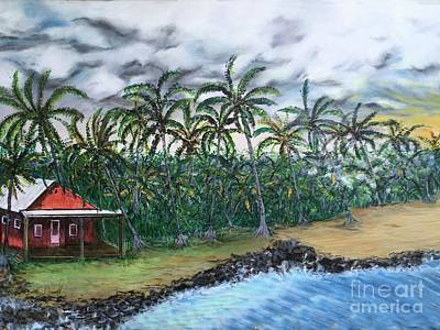Painting - Isaac Hale Park, Pohoiki, Hawaii by Michael Silbaugh