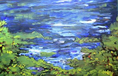 Painting - Isaac Lake, Canada by Cynthia Matthews