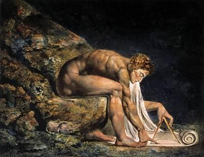 Isaac Newton Painting - Isaac Newton 1795 by Blake William