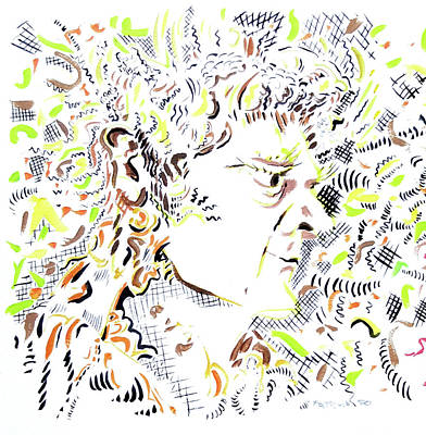 Painting - Isaac Newton by Dave Martsolf