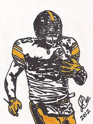 Steelers Drawing - Isaac Redman by Jeremiah Colley