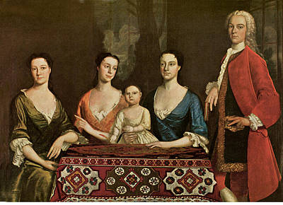 Table Cloth Painting - Isaac Royall And His Family by Robert Feke
