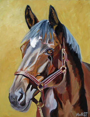 Horse Painting - Isabella by Anne West