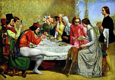 Banquet Photograph - Isabella by John Everett Millais