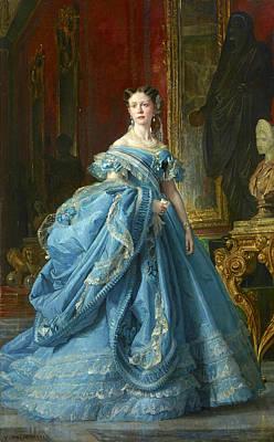 Painting - Isabella Princess Of Asturias Daughter Of Isabella II Of Spain by Vicente Palmaroli