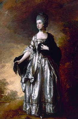 Isabella Viscountess Molyneux Later Countess Of Sefton Art Print by Thomas Gainsborough