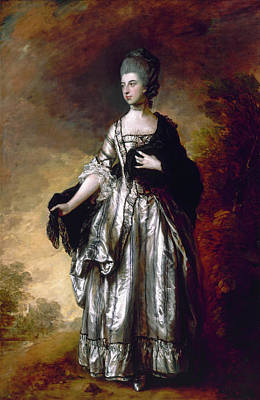 Stand Painting - Isabella, Viscountess Molyneux, Later Countess Of Sefton by Thomas Gainsborough