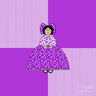Block Quilts Digital Art - Isabelle by Methune Hively