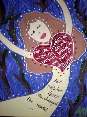 Painting - Isadora Duncan by Angela Yarber