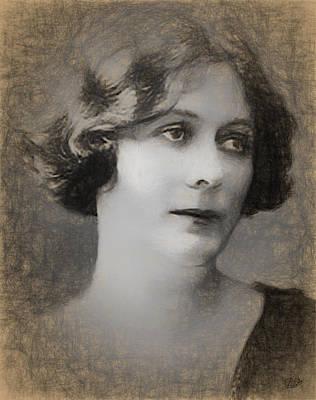 Isadora Duncan Digital Art - Isadora Duncan Sketch by Quim Abella