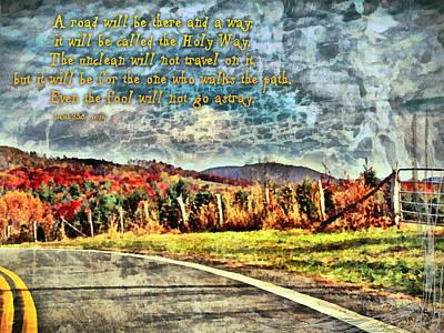 Isaiah Digital Art - Isaiah 35 8 by Michelle Greene Wheeler