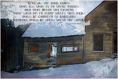 Shed Digital Art - Isaiah 39 6 by Michelle Greene Wheeler
