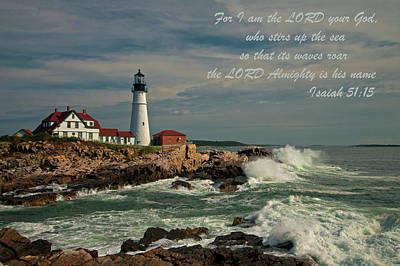 Photograph - Isaiah 51-15 by Paul Mangold
