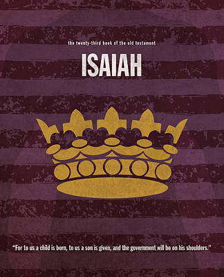 23 Mixed Media - Isaiah Books Of The Bible Series Old Testament Minimal Poster Art Number 23 by Design Turnpike