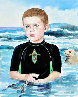 Painting - Isaiah Son Of Neptune by Kathryn Donatelli