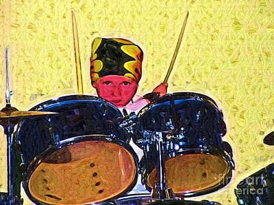 Isaiah The Drummer Art Print by Deborah MacQuarrie-Selib