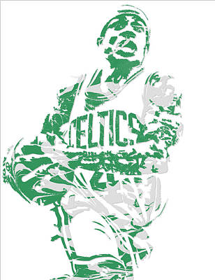 Mixed Media - Isaiah Thomas Boston Celtics Pixel Art 15 by Joe Hamilton