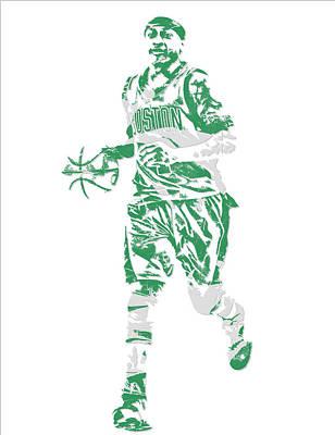 Isaiah Thomas Boston Celtics Pixel Art 17 Art Print