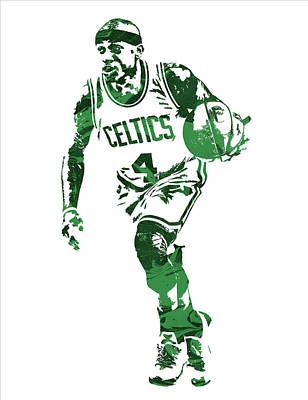 Isaiah Thomas Boston Celtics Pixel Art 4 Art Print by Joe Hamilton