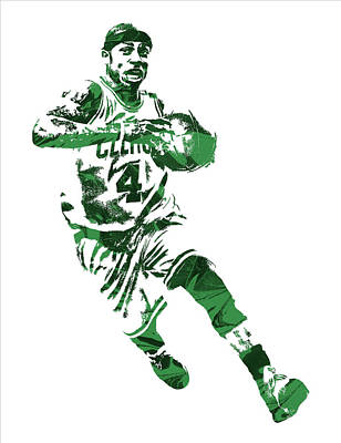 Isaiah Thomas Boston Celtics Pixel Art 5 Art Print by Joe Hamilton